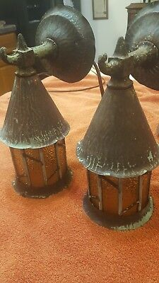 antique arts and crafts porch lamps