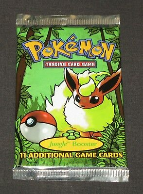 Pokemon Cards - Jungle Booster Pack - SEALED Flareon Artwork