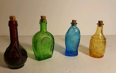 Lot of 4 WHEATON Bottles