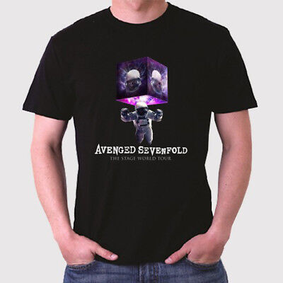 Avenged Sevenfold The Stage World Tour Men's Black T-Shirt Size S to 3XL