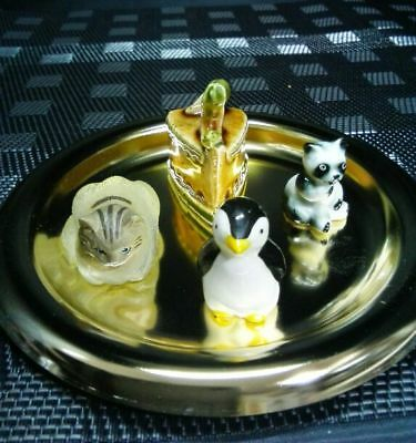 Miniature pottery ornament Artworks with 4 points Japan cute EMS F/S!