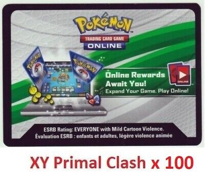 100 Pokemon XY Primal Clash Online Codes emailed or text within 12 hrs code tcgo