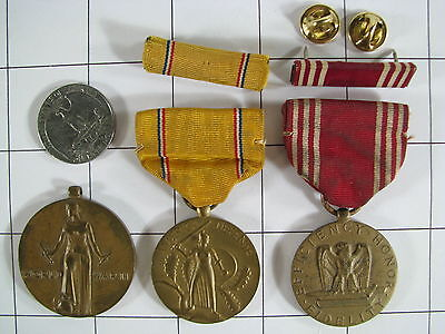 Lot US Military Victory & Good Conduct & American Defence Medals