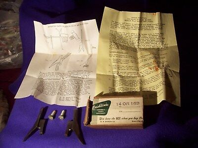 Vintage New Bashlin's Linemans Replacement Hooks With Bolts, Paper Work Orig Box