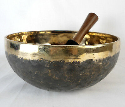 Bol chantant tibétain Noir et Or - 1500 gr  23,5 cm - Singing bowl