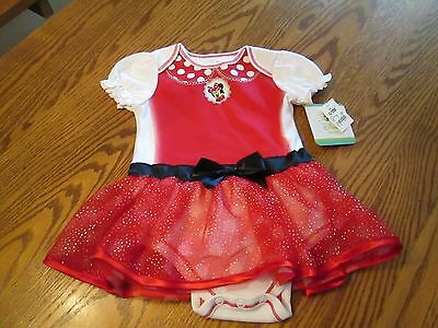 Disney Minnie Mouse Baby Girls Tutu Dress One Piece Size 6-9M, Nwt