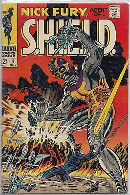 Nick Fury Agent Of SHIELD #2 Marvel 1968 Silver Age Comic VF-/VF Steranko Cover