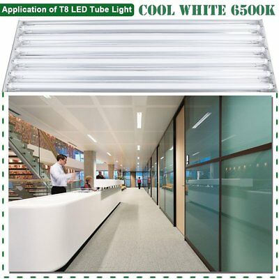 LED Ready 6 Bulb / Lamp 6500K T8 High Bay Light Fixture for Shop, Warehouse,  OY