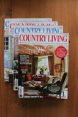 COUNTRY LIVING Magazines 2016 Bundle - January, February, March, April Issues