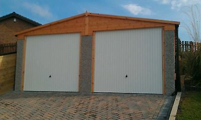 Concrete Apex Garages Priced For Fitting In Yorkshire - 16'3 By 16'5