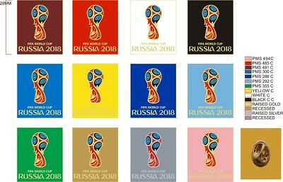 2018 FIFA WORLD CUP RUSSIA LOGO PIN/BADGE (England,Germany,France,Spain,Poland)