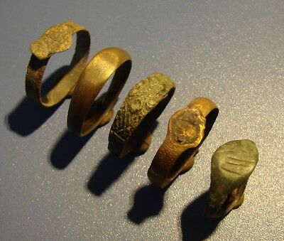 Ancient Rings Middle Ages. Bronze. Original