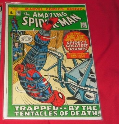 Amazing Spiderman 107# April 72 Trapped By The Tentacles Of Death 5.5