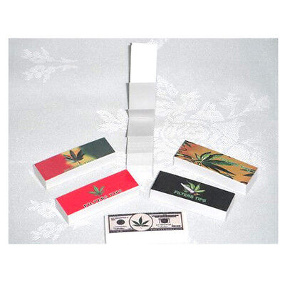 Roach Filter Tips 10 Booklet 500 Roaches Leaf Printed Smoking Paper Card Rolling