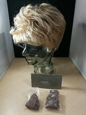 Womens Glazed Sand - Light Brown With Blonde Highlights Short Raquel Welch Wig