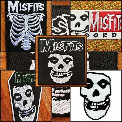 Misfits Metal Horror Punk Rock Music Band Sew Iron On Embroidered Patch