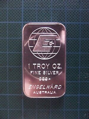 Scarce, 1 Troy Oz, Series 3 Engelhard  Australia .999 Fine Silver Bar.