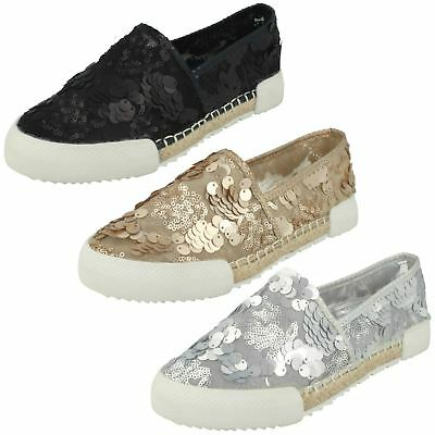 Ladies Savannah Flat Sequin 'Espadrilles'
