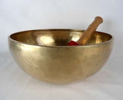 Bol chantant tibétain du Népal 2040 gr - 27,9 cm - 7 métaux  Singing Bowl