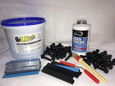 Tyre Fitting Kit,Cream,Bead Sealer,Sitck On Weights,TR414 & TR418 Free Black SOW
