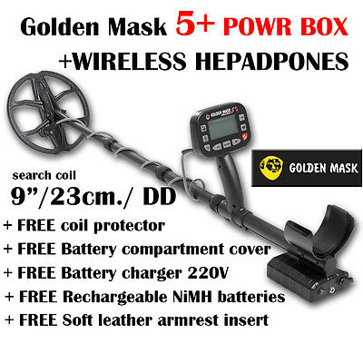 Golden Mask 5 + POWER BOX wireless headphones WS metal detector