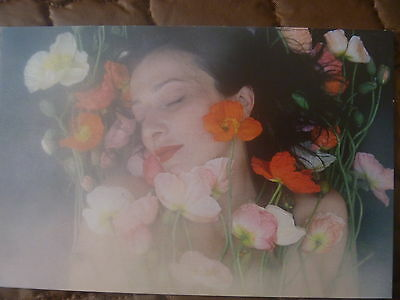 "Postcard..""emma De Clario For This Wild Song""...woman With Tulips..sensual"