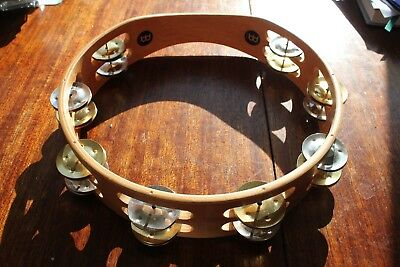 Tambourine Meinl TA2M-SNT, RECORDING-COMBO, 2-row with 16 Jingles,