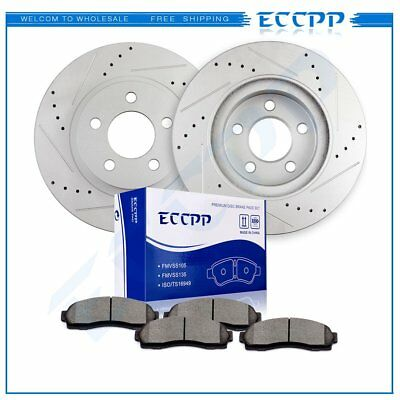 Front Drilled Slotted Brake Rotors /& Ceramic Pads For 2010 2011 Ford Ranger