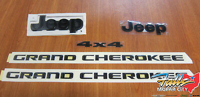 2014-2018 Jeep Grand Cherokee Black Out Emblem Nameplate Set Mopar OEM