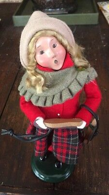 Byers Choice Carolers 2003 Girl Caroler with Wooden Skates