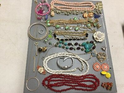 A Beautiful Lot Of Costume Jewelry Some Vintage