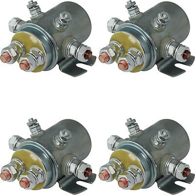 4 Continuous Duty SWITCH RELAY SOLENOID For Marine & Golf Cart 12V 6-Terminal