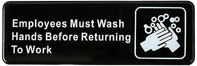 Employees Must Wash Hands Before Returning To Work Business Retail Sign