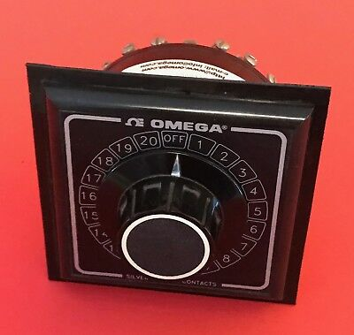 Omega Rotary Selector Switch - 1/4 DIN Series Part # OSW3-20