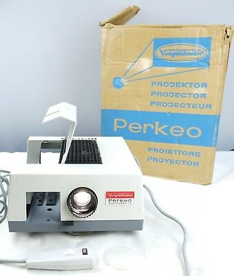 Voigtlander Perkeo-Automatic Slide Projector Boxed very good working condition