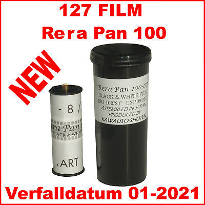 127 Film Rera Pan 100  127, Spool, S/W Negativfilm, Black & white Film
