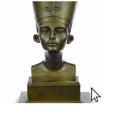 Collectible/Gift Egyptian Art Queen Nefertiti Royal Beauty Woman Bronze Statue