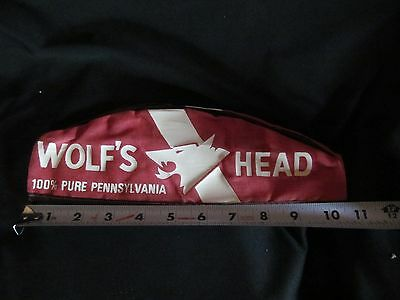 Vintage Wolf's Head Motor Oil and Lubes Gas Station Attendant Hat Size 6 7/8