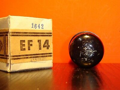 1x EF14 TELEFUNKEN STAHLRÖHRE NEU IN OVP/ STEEL VACUUM TUBE FACTORY NOS IN BOX