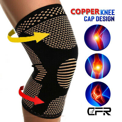 Copper Infused Leg Brace Magnetic Knee Compression Sleeve Support Pain Relief SF