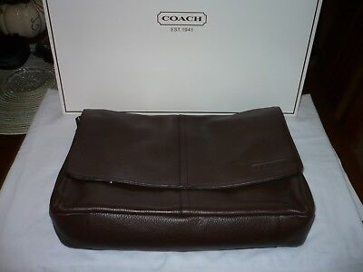 COACH- Brown Leather Messenger Bag - 15x12- Brand New!