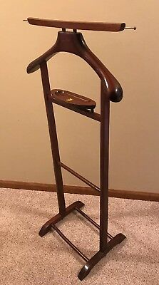 Vintage Mid century Italian SPQR Silent Butler Suit Coat Valet Stand with Tray