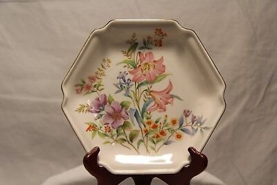 Spring Fantasy Flambro Imports Six Sided Gold Tone Dish Made in Japan