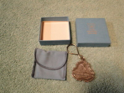 Vintage 1978 Milbank Mutual Insurance Co. Olde Colonial Pewter Keychain W/box