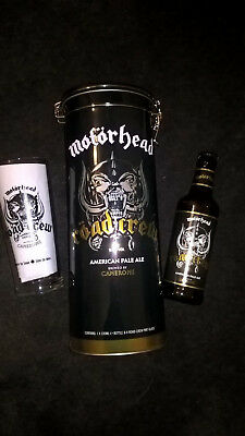 *New Offical* Motorhead Embossed tin, Gift Set,Ale, Etched Glass, Free P&P