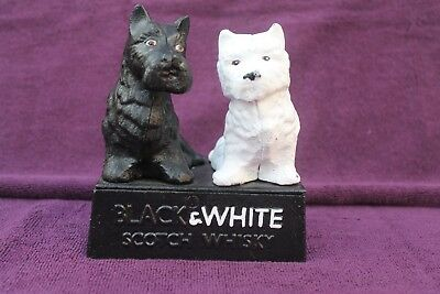Rare Vintage Style Buchanan's Black & White Scotch Whiskey Cast Iron Ornament