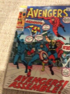 The Avengers #82 (November 1970, Marvel) Daredevil, Black Panther