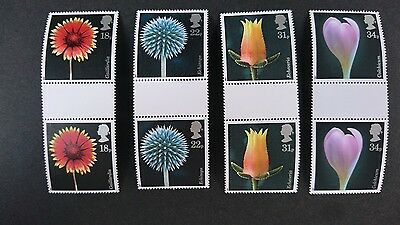 Gb Um Commemorative Stamp Gutter Pairs - Flower Photography - 20.1.87