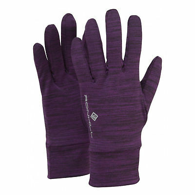 Ronhill Victory Womens Purple Winter Warm Outdoors Running Sports Gloves