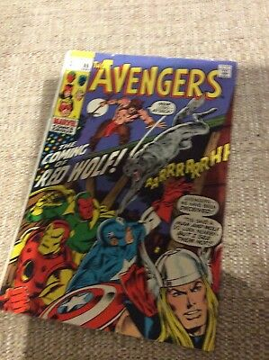 Marvel Comics The Avengers #80 1970 Coming Of Red Wolf